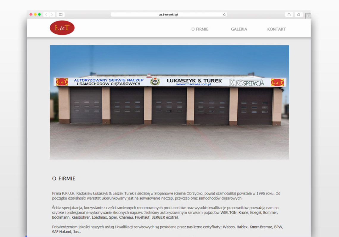 Łukaszyk&Turek - Strona Internetowa