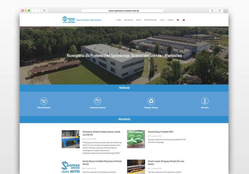 Strona internetowa Spomasz Wronki